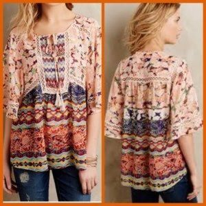 Anthropologie Meadow Rue Boho Floral Blouse